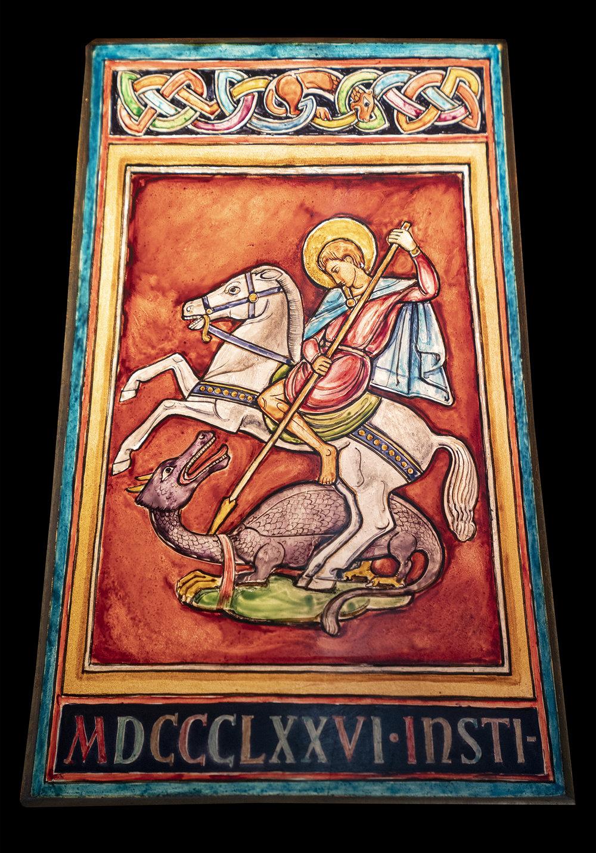 Figure 15: Michael slaying the dragon.