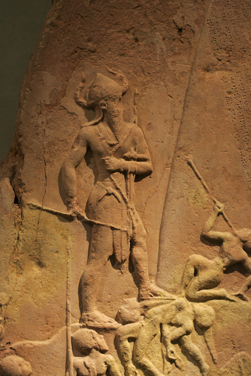 Figure 4:  Victory stele of Naram-Sin 9062.jpg  by  Rama , Wikimedia Commons,  CeCILL .