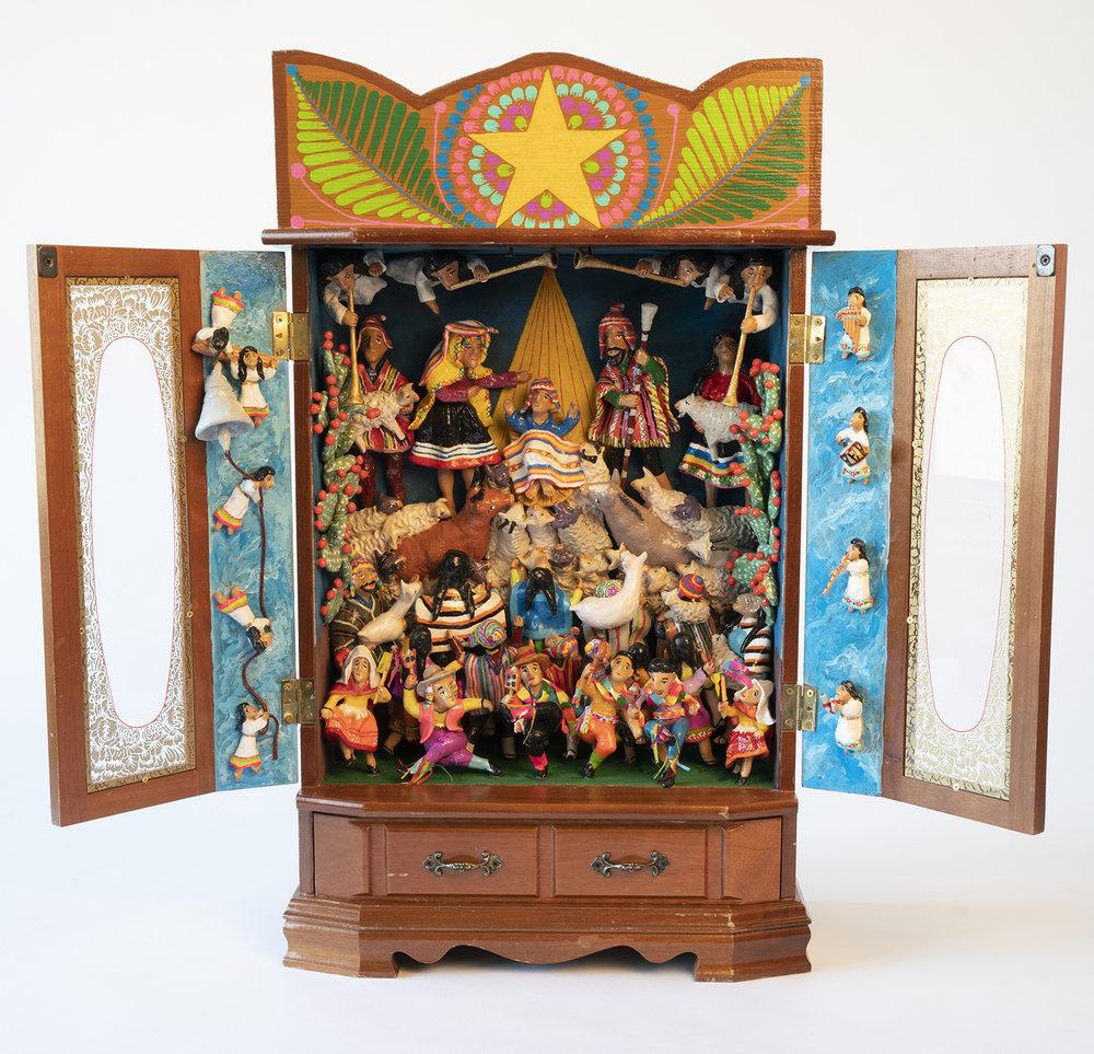 Figure 11: Nativity retablo by Jeronimo Lozano, 2018.