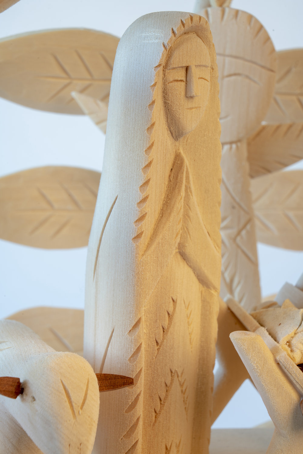 Figure 16: Mary. Detail of Nativity santo pictured in Figure 14, by Sabinita López Ortiz, 2018.