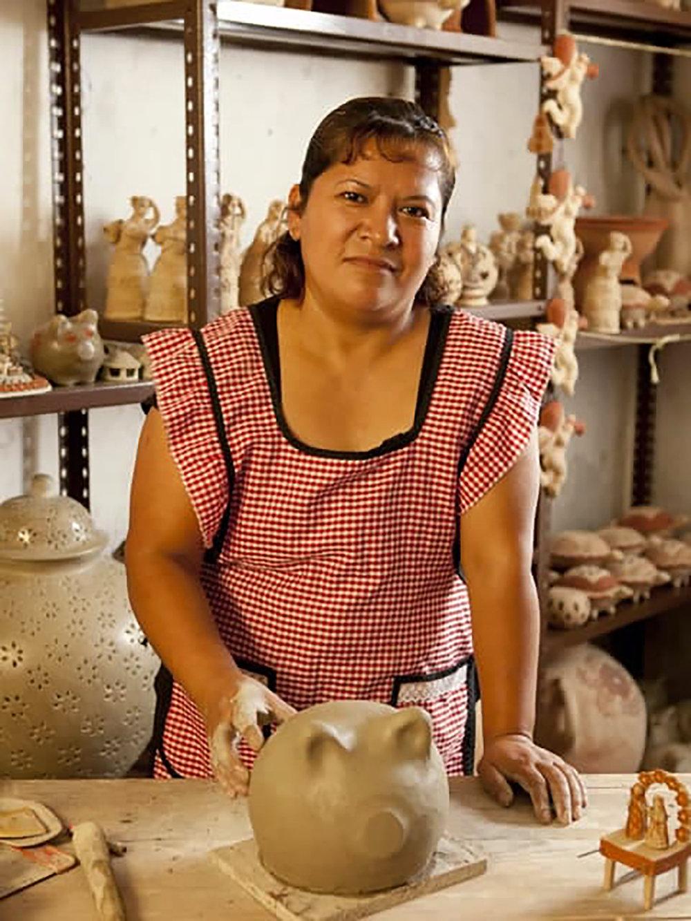 Figure 18: Carmen Gutierrez Vazquez, San Miguel Aguasuelos, Veracruz-Mexico. Photo courtesy of Cactus Fine Art.