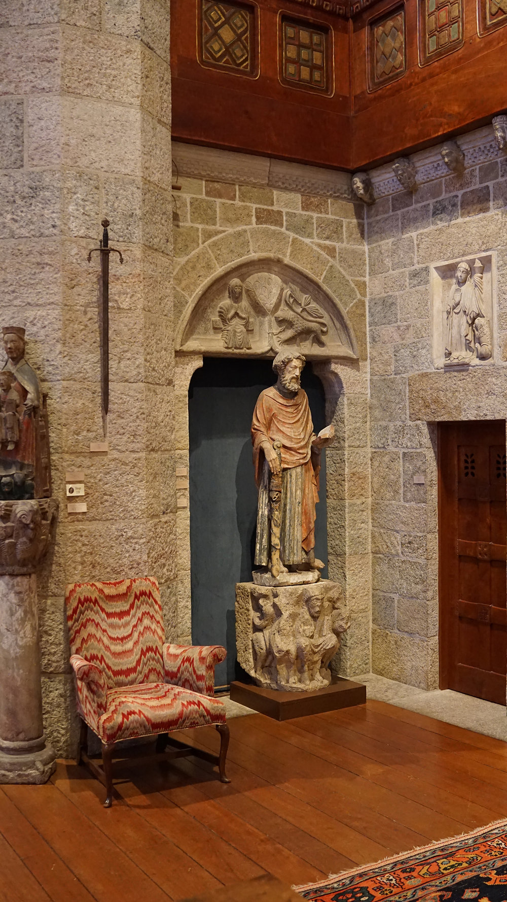 Figure 15: St. Paul conglomeration, Great Hall, Glencairn Museum, Bryn Athyn, Pennsylvania. Photo: Glencairn Museum.