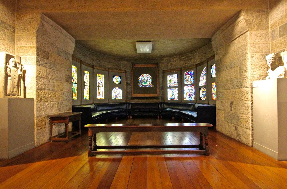 Figure 8: The apse in Glencairn's Medieval Gallery. Photo: Glencairn Museum.