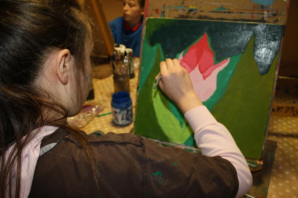 painting, teen group .JPG
