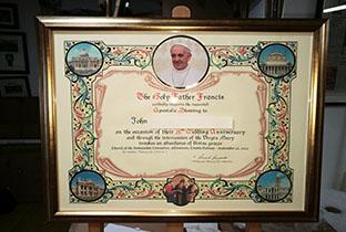 Framing2_0001_certificate Papal blessing Gold leave frame.jpg