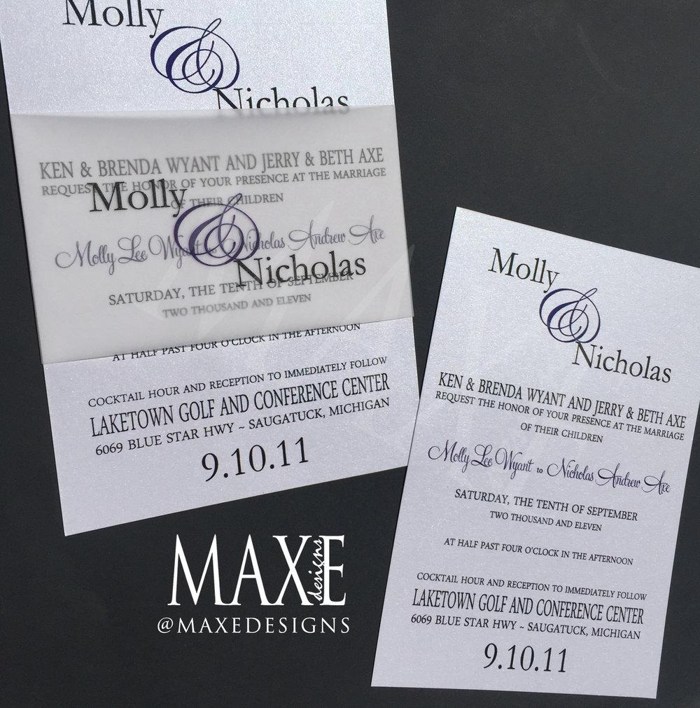 Modern Wedding Invitations by MAXE Invitations - Deposit — MAXE Designs