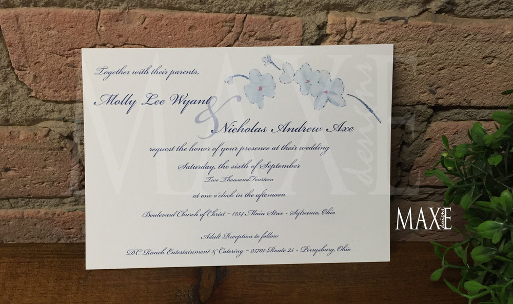 White Orchid Wedding Invitations by MAXE Invitations Deposit