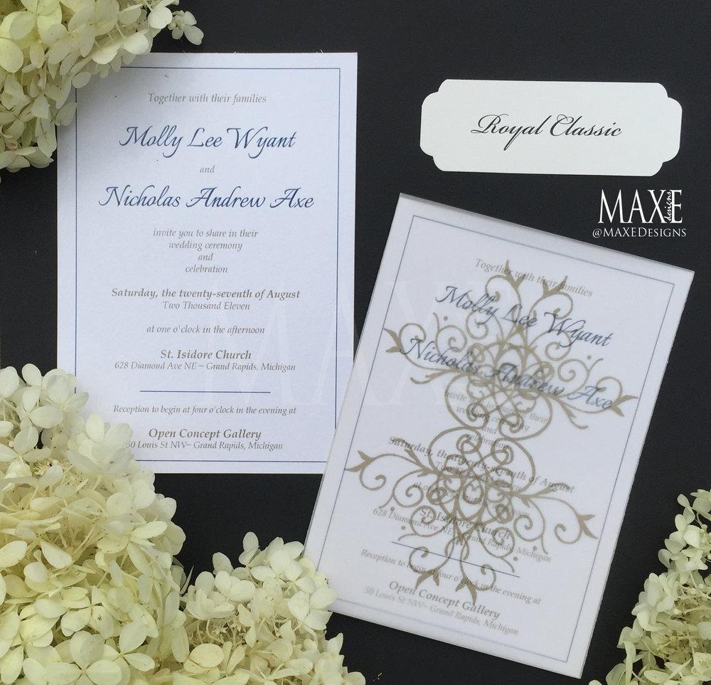 Royal Classic Wedding Invitations by MAXE Invitations - Deposit ...