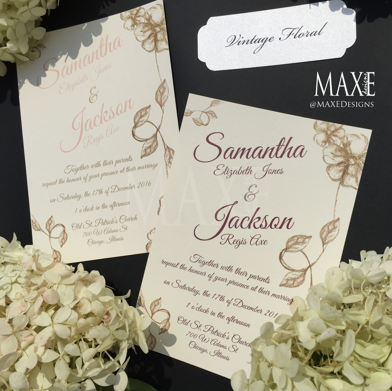 Wedding Invitations Vintage, Vintage Glam Wedding Invitations Wedding  Invitations By Shine