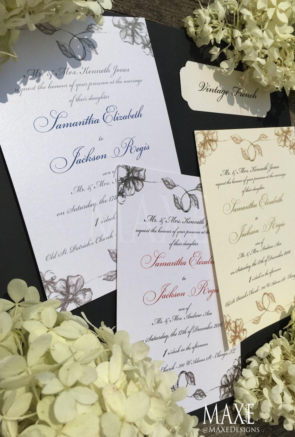 MAXE Invitations Wedding Collection } — MAXE Designs