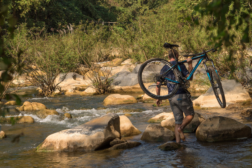 Copy of Crossing rivers by bike