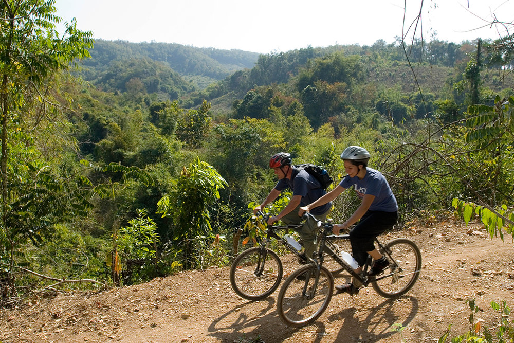 Riding along the hillsides just outside of Luang Prabang.