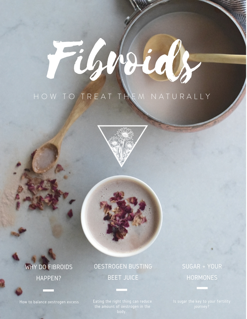 Fibroids ebook - If you'd like to learn more about treating fibroids check out the Forage ebook
