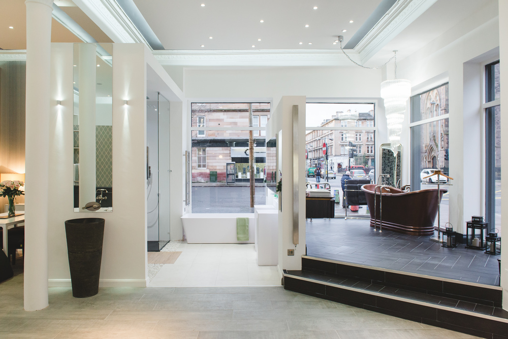 Visit our showroom luxury bathrooms glasgow for Showroom bagno