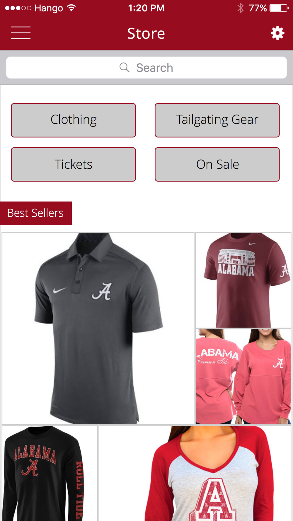 Store   Get gameday ready with tickets, clothing and tailgating gear.
