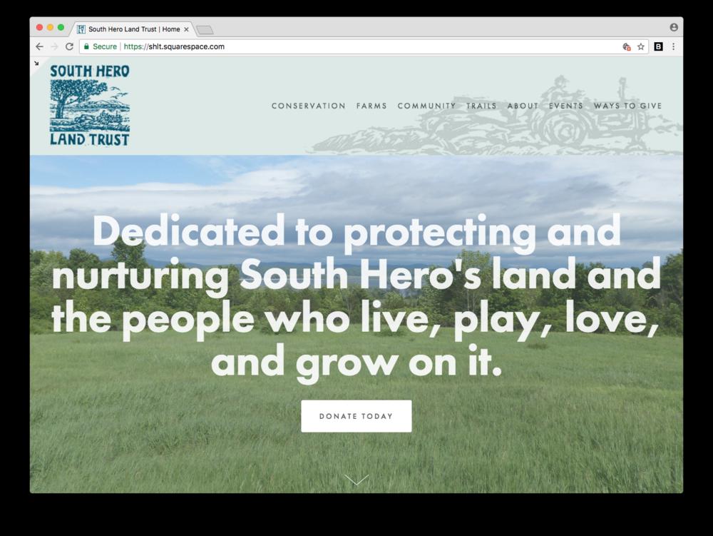 South Hero Land Trust Web Design Squarespace Vermont VT