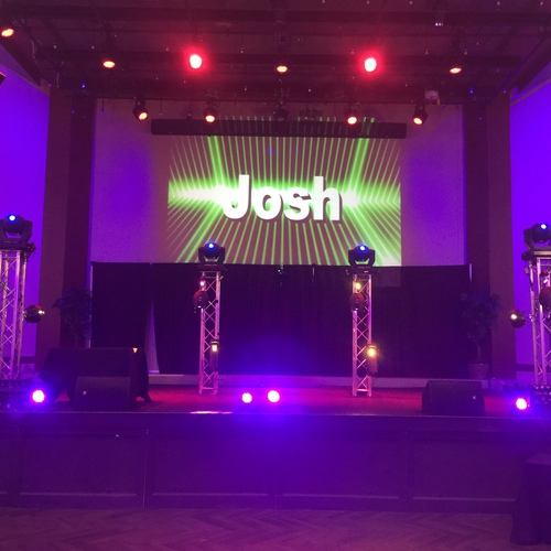 Big screen 12ft square truss special effects lighting bar mitzvah 2016 jpg