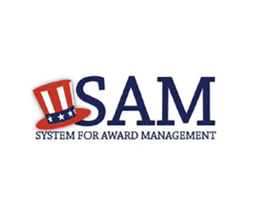System for Award Management(SAM) certified as a small business for federal contracts
