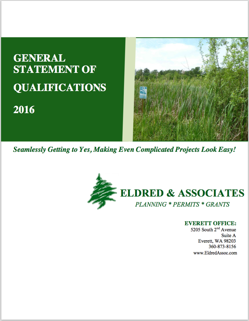Eldred & Associates Statement of Qualifications