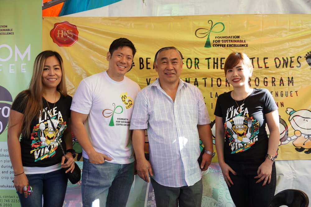 On photo:    (From left) Vikings Group Marketing Manager Raquel Bartolome, FSCE Director Michael Harris Lim, La Trinidad Municipal Mayor Romeo Salda, Vikings Group Marketing Director Donna Fernandez