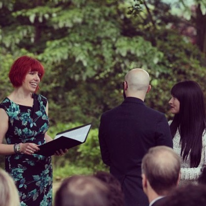 Creating Ceremony (Wedding Services) - As an independent celebrant, Claire can create a ceremony with you for any life event, reflecting your personality, your beliefs and your lifestyle. Also she's lots of fun!