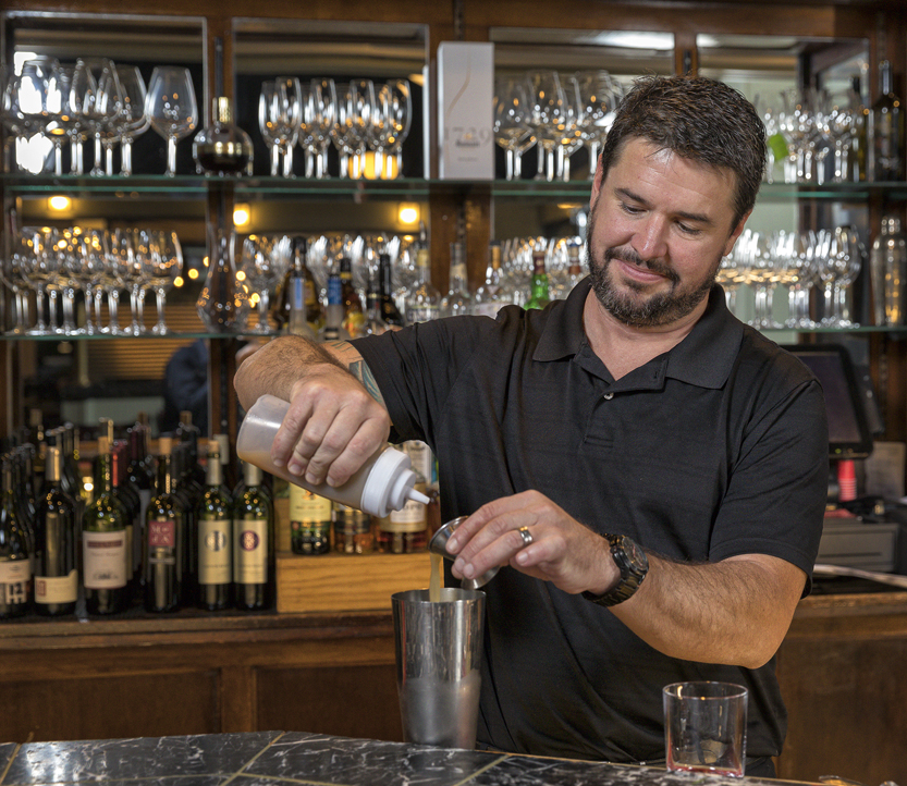 jeremy smith, head bartender at maximillians