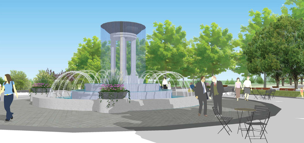 renderings courtesy of the town of cary