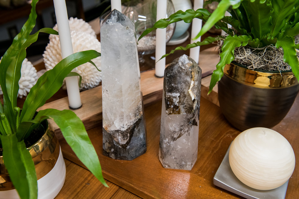 Bahia quartz crystals, $390-$590 |  City Garden Design