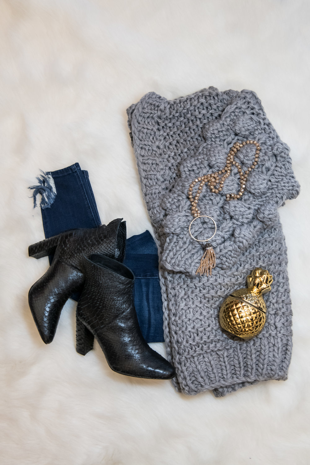 &merci chunky cable knit sweater, $89 |  Sophie & Mollies Boutique