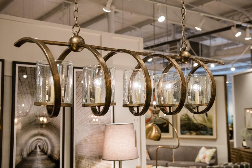 Currey & Co Maximus rectangular chandelier, $1,870 |  Furnish