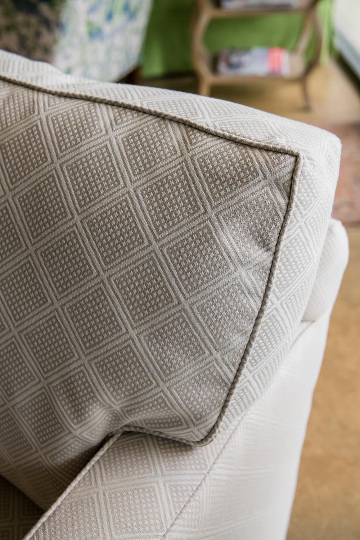 Chair in P/K Lifestyles & Belgianlinen fabric, $950 |  Dexter Furniture