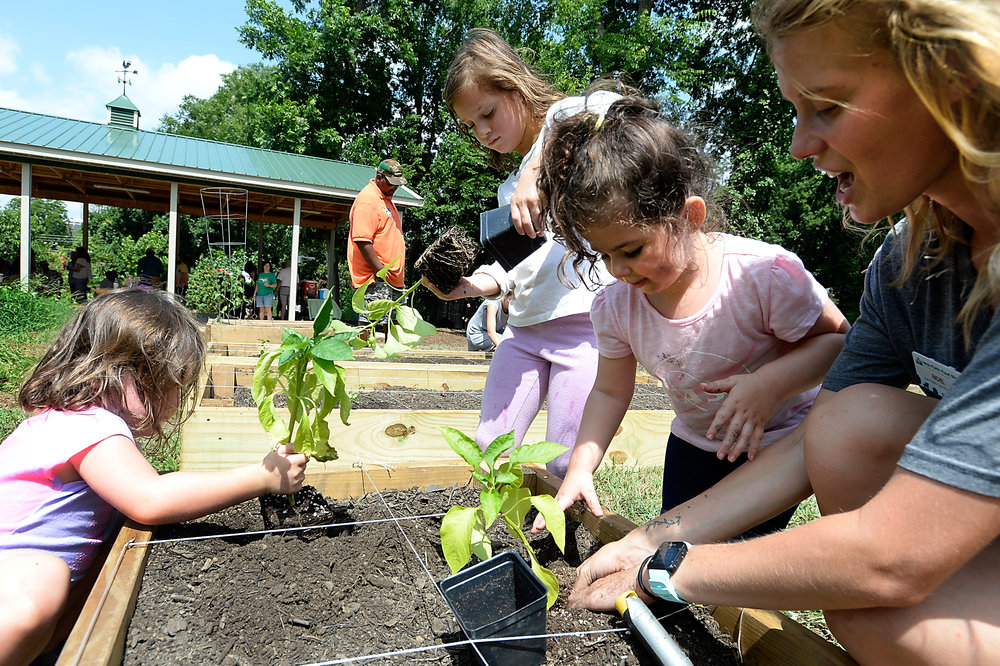 Activities at Inter-Faith Food Shuttle's Garden Get Down included garden tours and fun projects for kids.