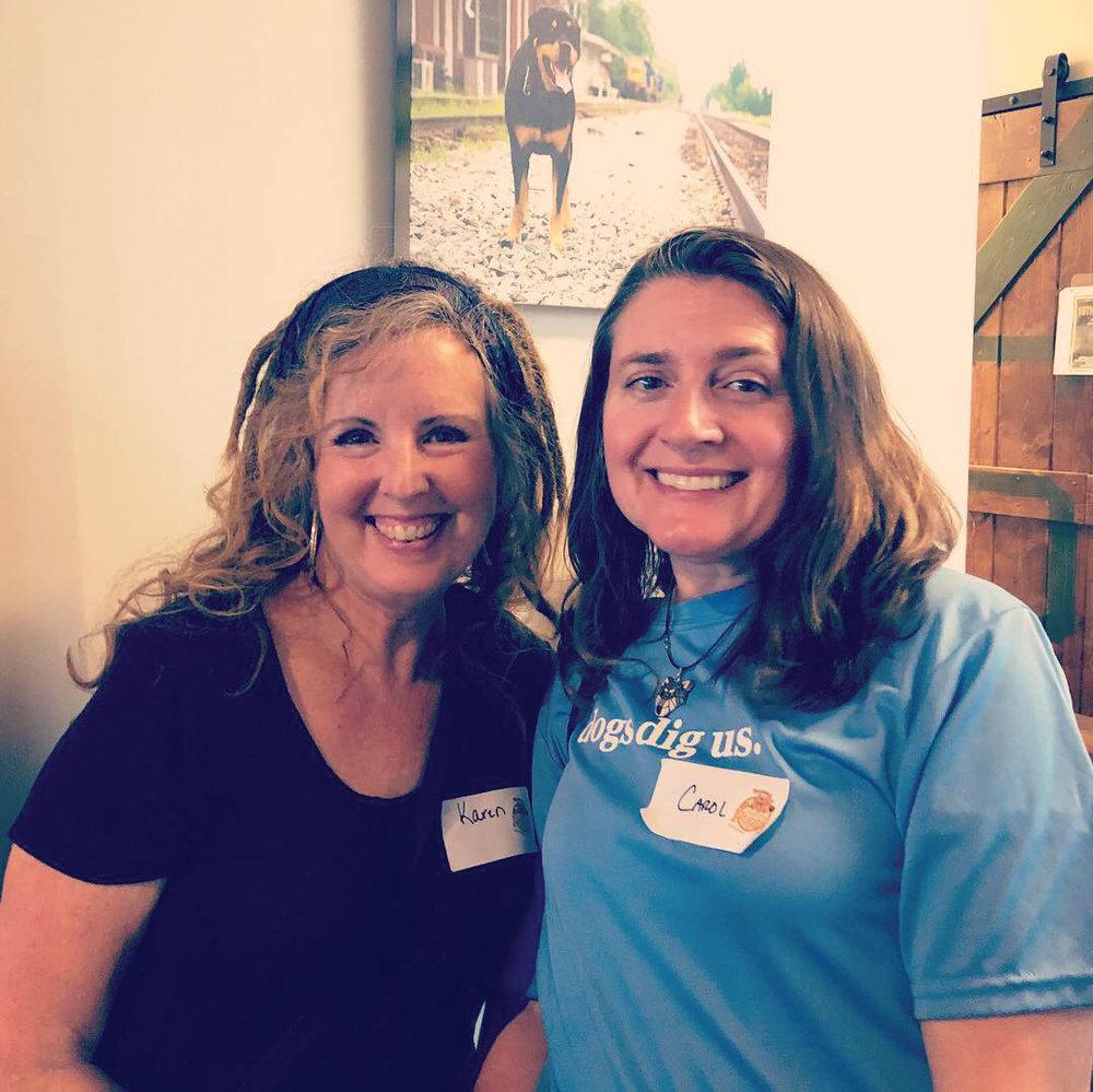 Apex Team Member Karen Parrish (left) and Cary Team Member Carol Davilla (right).