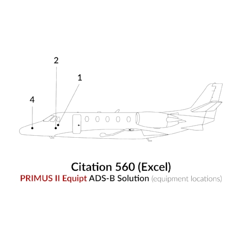 ADS-B Out Primus II Equipment Citation 560 (Excel)