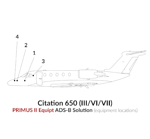 ADS-B Out Primus II Equipment Citation 650