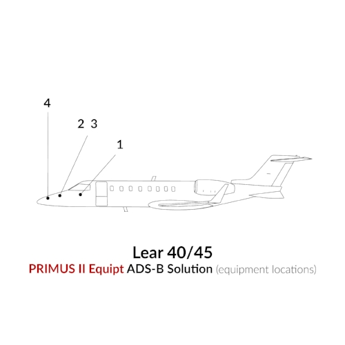 ADS-B Out Primus II Equipment Learjet 40/45