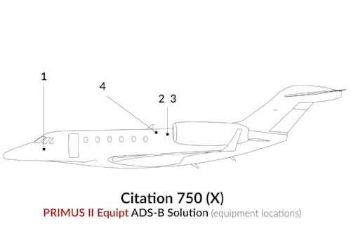 ADS-B Out Primus II Equipment Citation 750