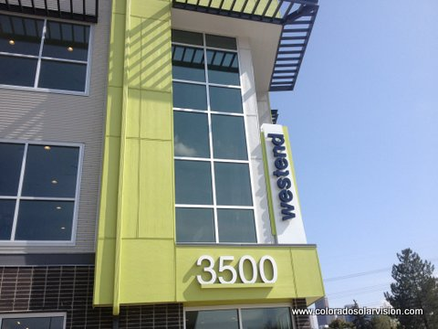 Solar Control Window Film Applied to Apartment Building