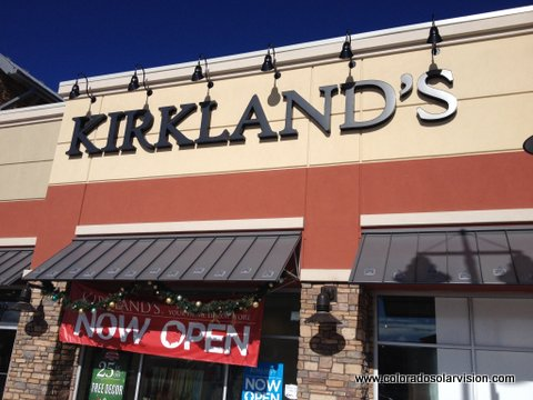 White Out Window Film was used at Kirkland's