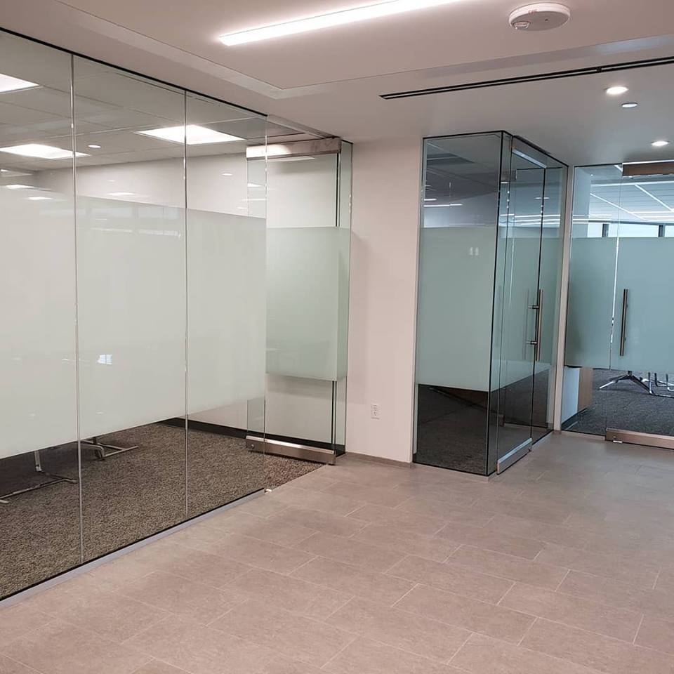 A simple, classic, yet sophisticated look using 3M's San Marino Decorative Window Film.