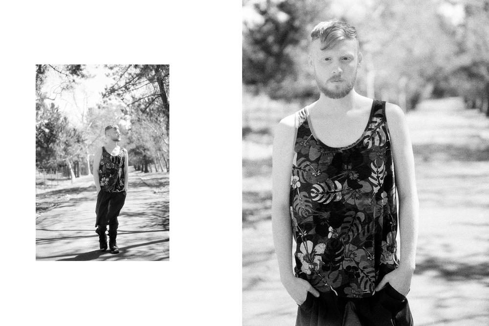 Tank by When Simon met Ralph. Pant by Ryan Morar, BFA Fashion Design.