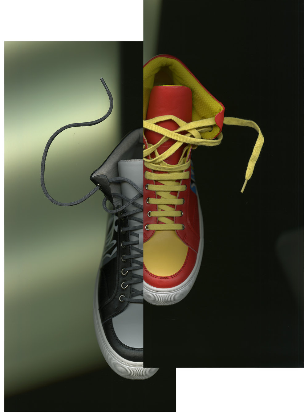 Shoes designed by Shih Kai Tai, MFA Fashion Merchandising.