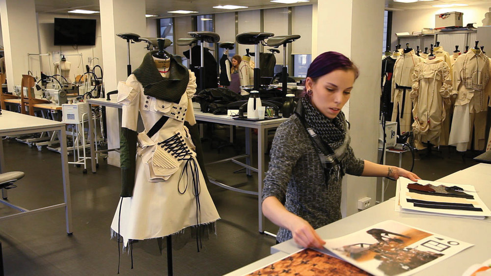 Vanessa Nash-Spangler at L'Ecole de la Chambre Syndicale de la Couture Parisienne.