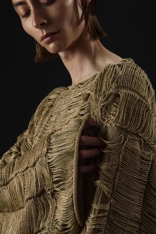 Joanna Jadallah, BFA Menswear Design and Cana Klebanoff, BFA Knitwear Design.