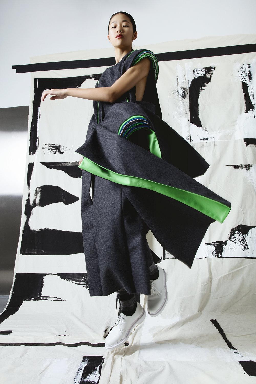 Tingting Cai, MFA Fashion Design and Esther (Tian) Qi, MFA Fashion Design.