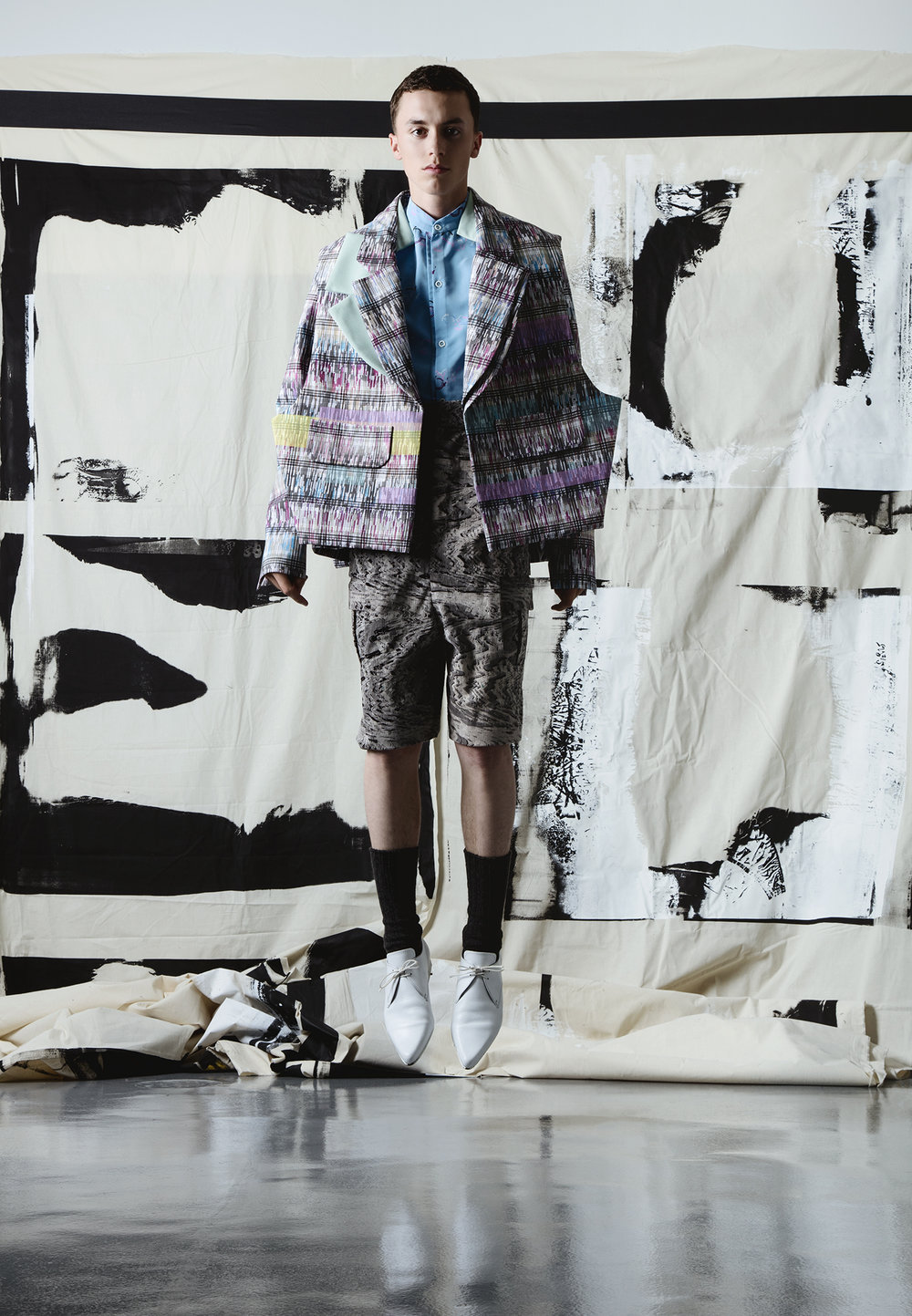 Longwen Li, MFA Fashion Design and Kiwon Kang, MFA Textile Design.