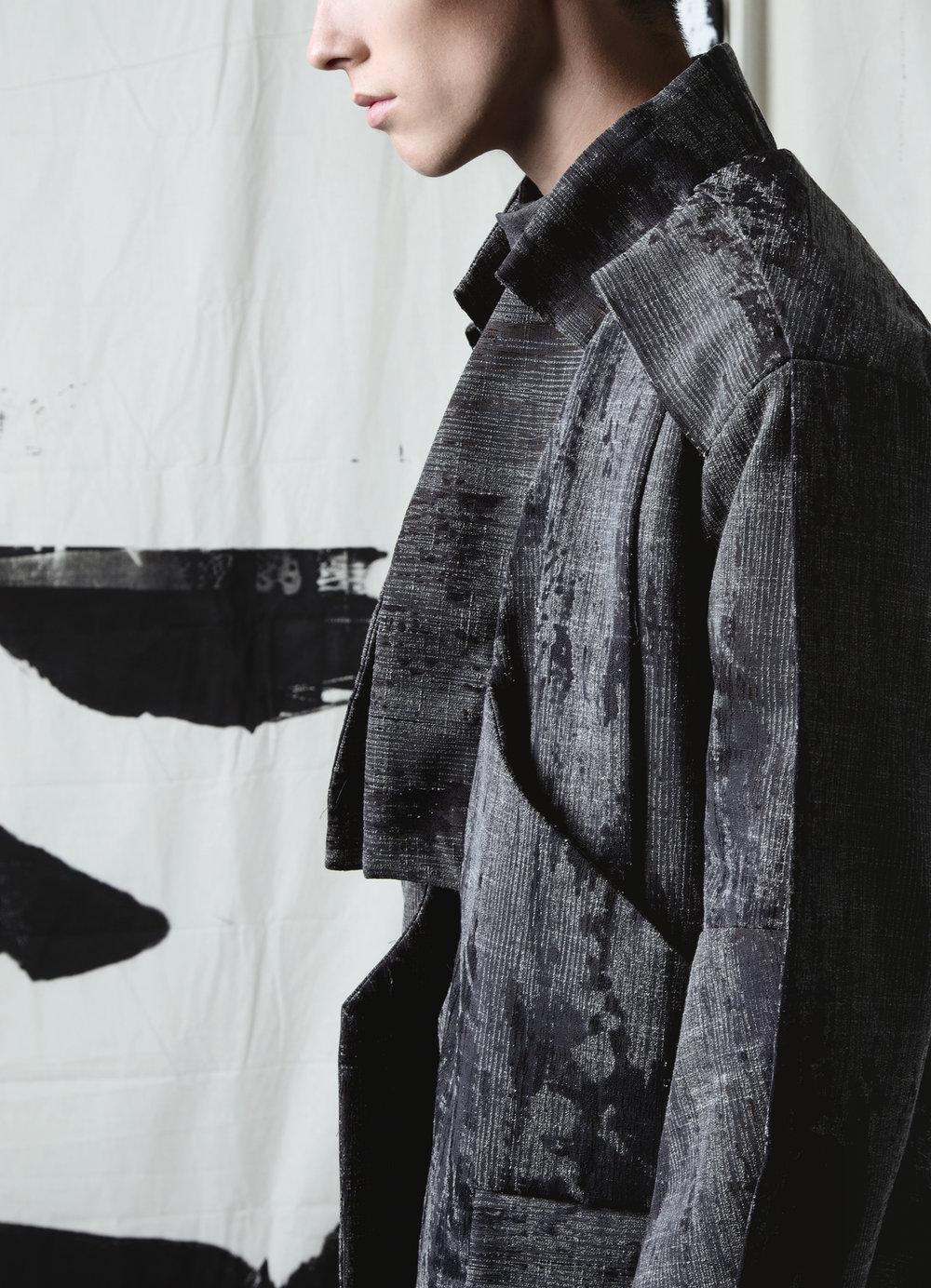 Mark Kazu Mekaru, MFA Fashion Design, Katy Fang Liu, MFA Textile Design, and Amo (Yu Ling) Chou, MFA Knitwear Design.