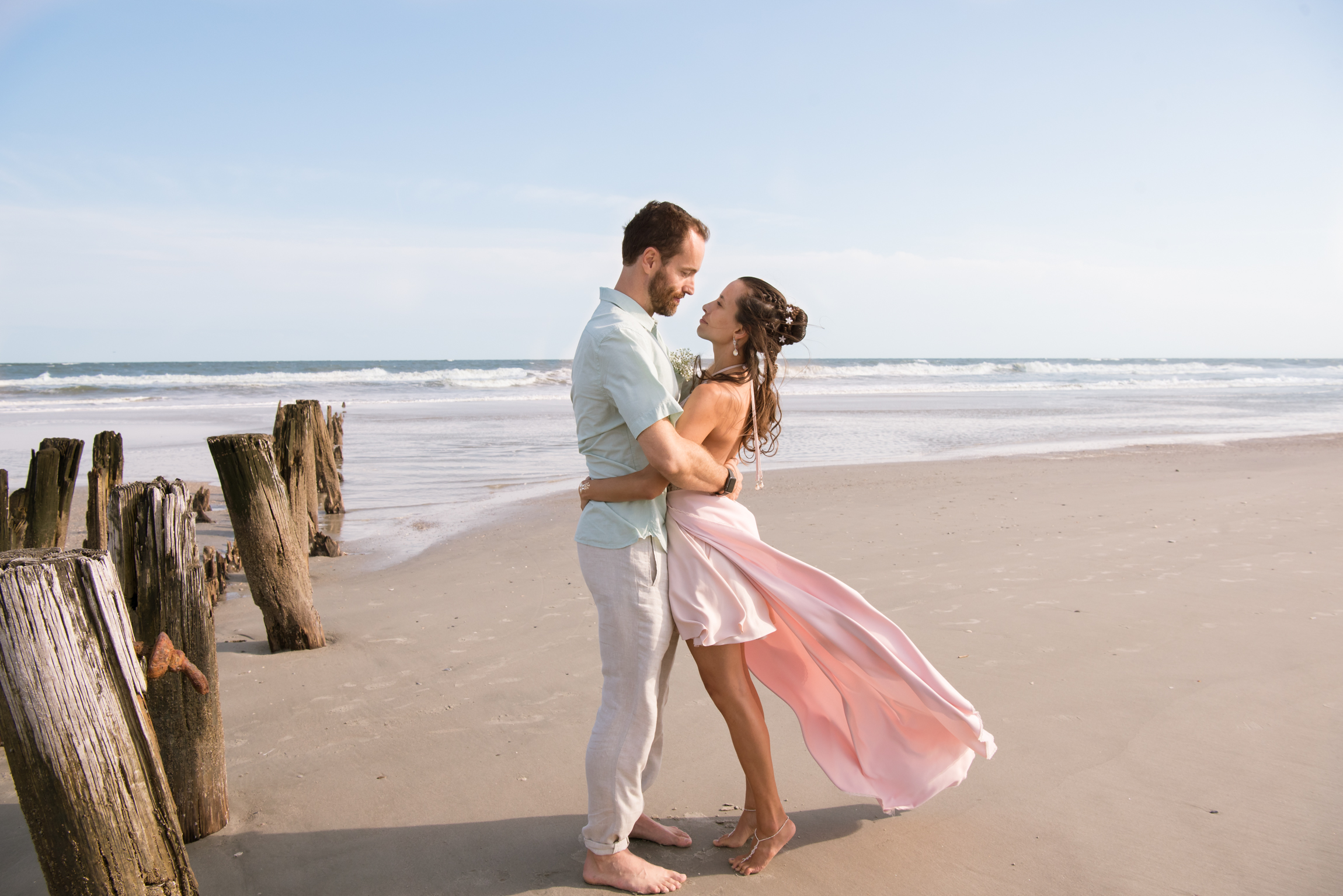 Jonah Leticia Folly Beach Wedding South Carolina