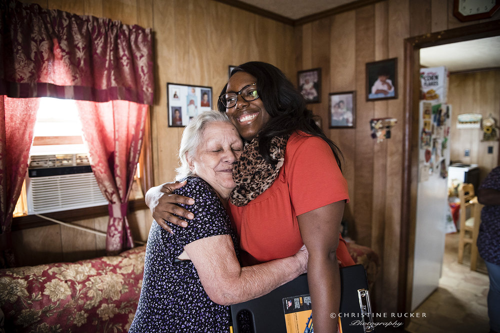 A hug goes a long way when you can't get out of your home very often. Senior Services provides hugs, meals and many other services for the Elderly of Forsyth county.