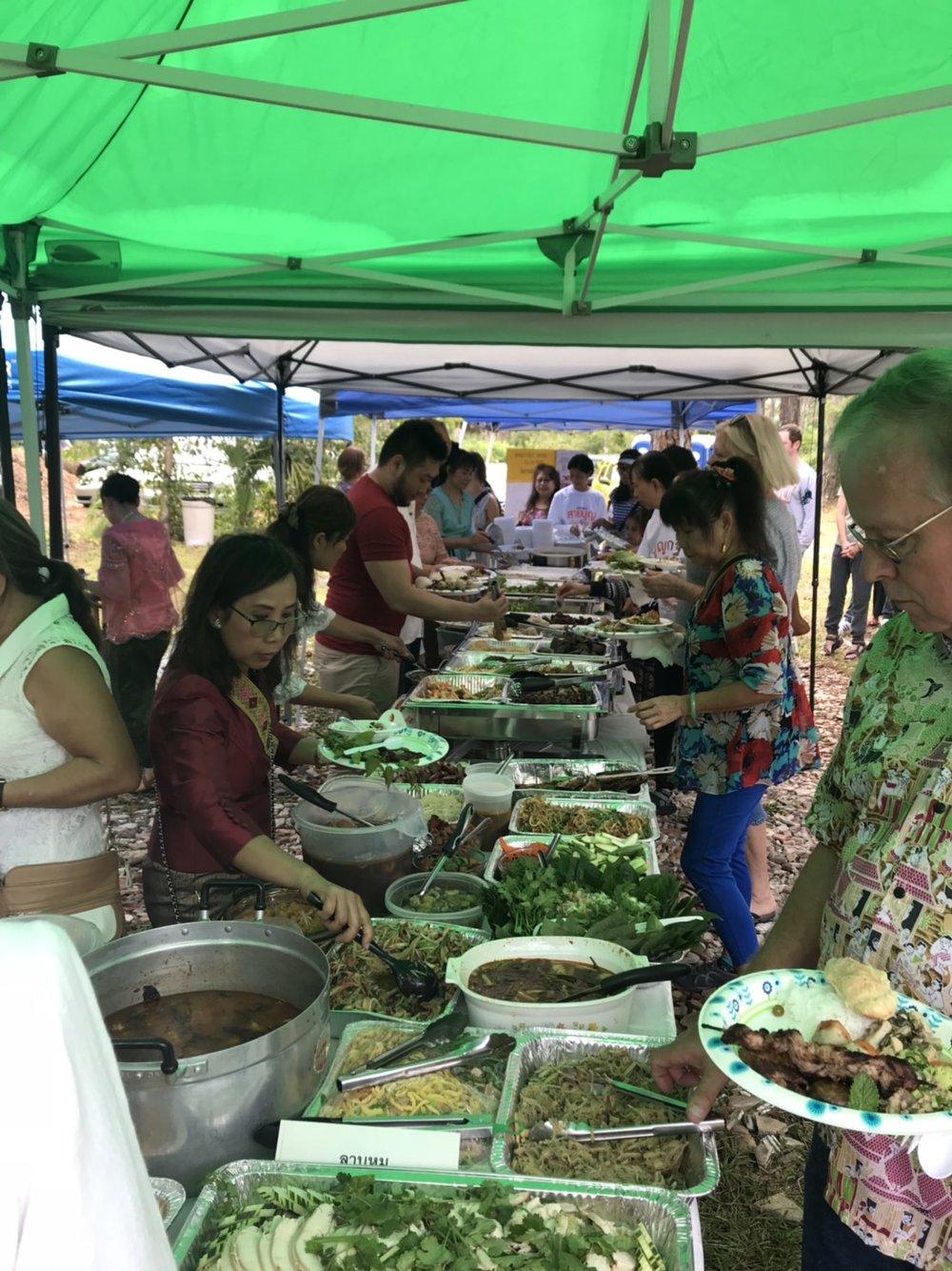 Thailand Restaurant provided food.